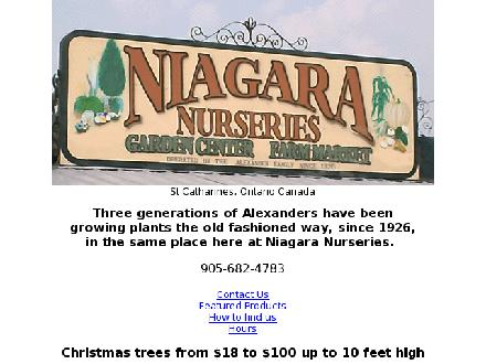 Niagara Nurseries (905-682-4783) - Website thumbnail - http://www.niagaranurseries.ca