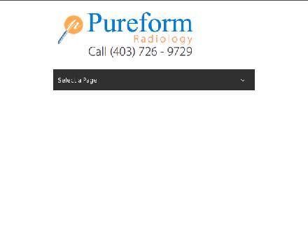 Pureform Diagnostic Imaging Clinics (403-726-9729) - Website thumbnail - http://www.pureformdiagnostics.com