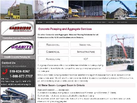 Cambridge Aggregate Services (519-624-1004) - Website thumbnail - http://www.concretepumping.ca