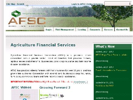 AFSC (Agriculture Financial Services Corp) (742-7904) - Website thumbnail - http://www.afsc.ca