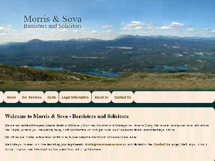Morris & Sova Law Office (867-456-2326) - Website thumbnail - http://www.morris-sova.com