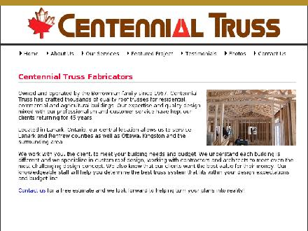 Centennial Truss Fabricators Ltd (1-800-267-7905) - Website thumbnail - http://www.centennialtruss.com/