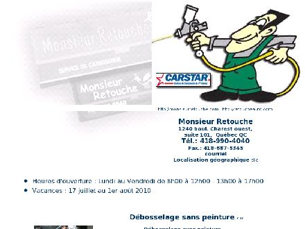 Monsieur Retouche (418-990-4040) - Onglet de site Web - http://www.monsieurretouche.com