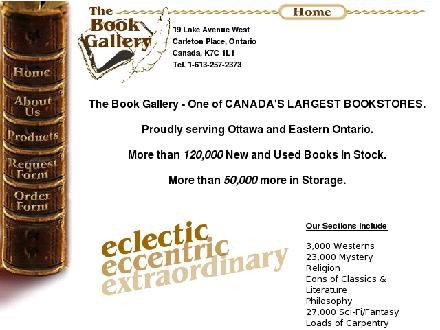 Book Gallery The (613-257-2373) - Website thumbnail - http://www.thebookgallery.ca/Home
