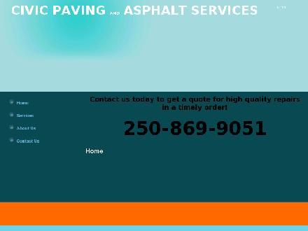 Civic Paving (250-868-8535) - Website thumbnail - http://www.civicpaving.com