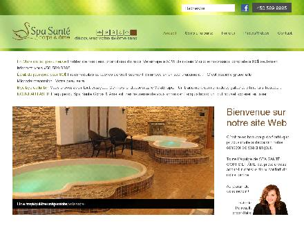 Spa Sant&eacute; Corps Et Ame (450-589-8885) - Onglet de site Web - http://www.spasante.ca