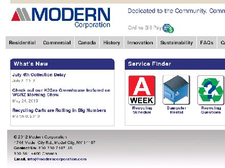 Modern Corporations (905-262-6000) - Onglet de site Web - http://www.moderncorporation.com