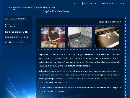 Precision Engraving & Manufacturing Co (514-937-2521) - Onglet de site Web - http://www.gravureprecision.com