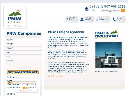 Pacific Northwest Freight Systems (867-667-2050) - Website thumbnail - http://www.pnwgroup.ca/companies/freight.html