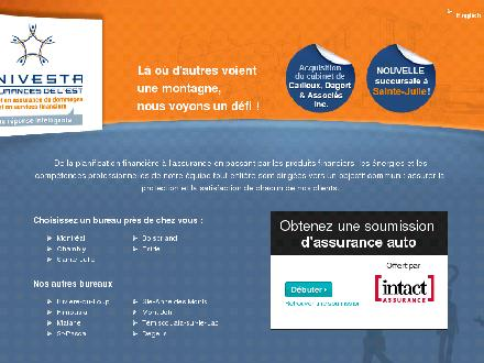Univesta Assurances et Services Financiers (1-800-267-5377) - Website thumbnail - http://www.univesta.ca