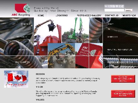 A B C Recycling Ltd (604-549-5042) - Onglet de site Web - http://www.abcrecycling.com