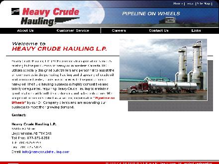 Heavy Crude Hauling LP (780-875-5358) - Website thumbnail - http://www.heavycrudehauling.com