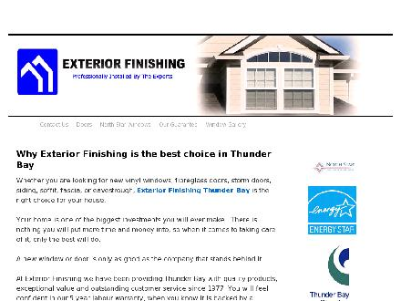 Exterior Finishing Co (807-623-1135) - Onglet de site Web - http://www.exteriorfinishing.ca