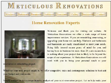 Meticulous Renovations Inc (613-599-1114) - Website thumbnail - http://www.meticulousrenovations.ca