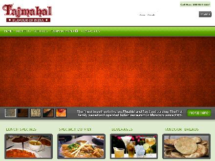 Tajmahal Flavor of India (506-854-5557) - Website thumbnail - http://www.tajmahalmoncton.com