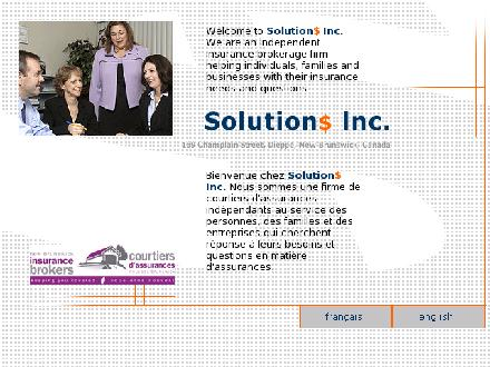 Solutions Inc (506-801-9946) - Onglet de site Web - http://www.solutionsinc.nb.ca