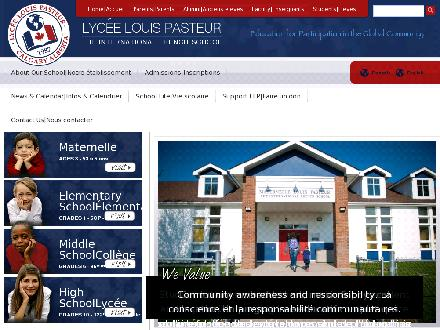 Lycee Louis Pasteur (403-243-5420) - Onglet de site Web - http://www.lycee.ca