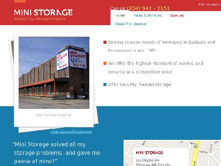 Mini Storage (204-809-3146) - Website thumbnail - http://www.winnipegministorage.ca