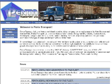 Penta Transport Ltd (1-888-576-4682) - Onglet de site Web - http://www.pentatransport.com