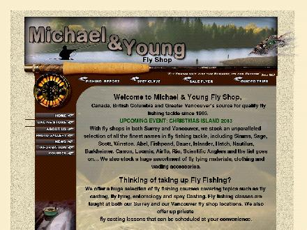Michael & Young Flyfishing Supplies Inc (604-639-2278) - Website thumbnail - http://www.myflyshop.com