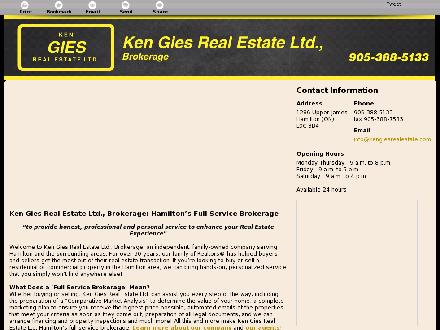 Gies Ken Real Estate Ltd (905-388-5133) - Onglet de site Web - http://kengiesrealestate.ca/