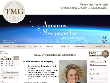 Mortgage Group The-Aquarius Mortgages (250-862-3080) - Onglet de site Web - http://www.aquariusmortgages.com