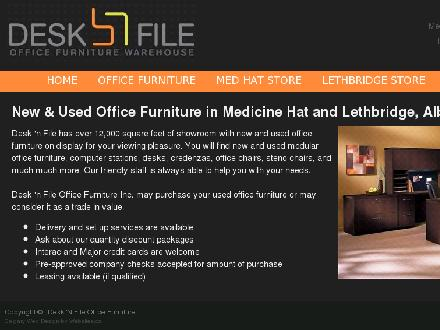 Desk 'n File Office Furniture Inc (403-328-5266) - Onglet de site Web - http://www.desknfile.net