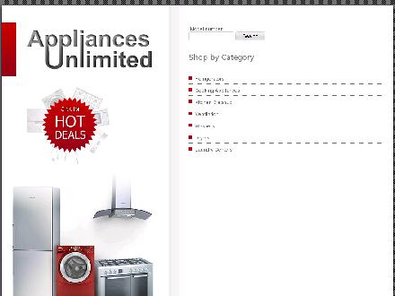 Appliances Unlimited Inc (780-430-8587) - Onglet de site Web - http://www.appliancesunlimited.ca
