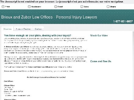 Zuber Brioux Injury Lawyers (613-777-7908) - Onglet de site Web - http://www.ontario-injured.ca