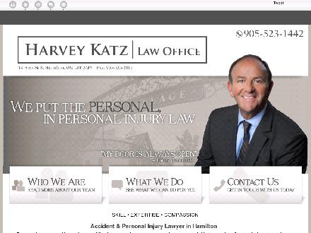 Katz Harvey Law Office (905-523-1442) - Onglet de site Web - http://harveykatzlaw.net/