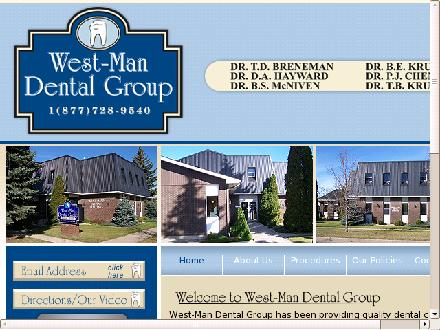 West-Man Dental Group (204-728-9540) - Onglet de site Web - http://www.west-mandental.com