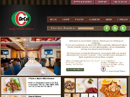 Orcel Asian Cuisine (905-450-7569) - Onglet de site Web - http://www.orcelasiancuisine.com