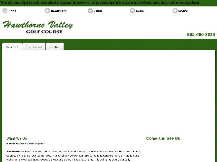 Hawthorne Valley Golf Course (905-686-2028) - Website thumbnail - http://hawthornevalleygolf.ca