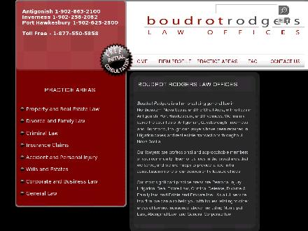 Boudrot Rodgers Law Offices (1-855-567-8458) - Onglet de site Web - http://www.boudrotrodgers.com