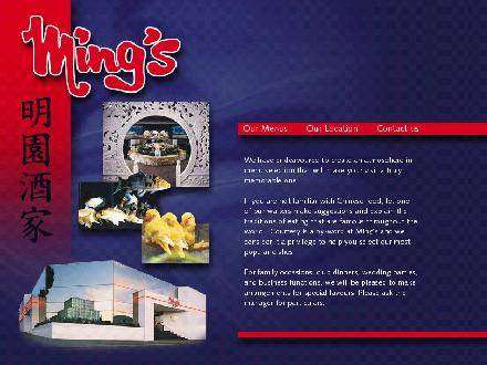 Ming's Restaurant (250-385-4405) - Website thumbnail - http://www.mings.ca