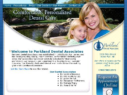 Parkland Dental (780-968-1285) - Website thumbnail - http://www.parkland-dental.com