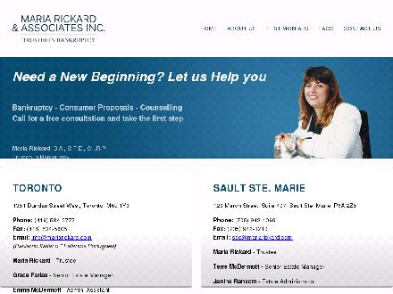 Maria Rickard &amp; Associates Inc (416-534-2777) - Website thumbnail - http://mariarickard.com