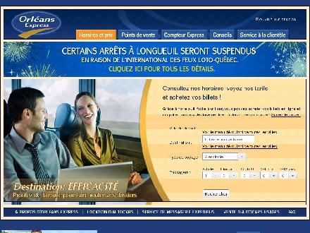Orl&eacute;ans Express (1-800-561-1210) - Website thumbnail - http://www.orleansexpress.com