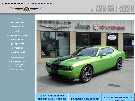 Lakeview Chrysler Ltd (709-651-4000) - Onglet de site Web - http://www.lakeviewchrysler.com