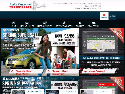 North Vancouver Suzuki (604-983-2088) - Website thumbnail - http://www.northvansuzuki.com