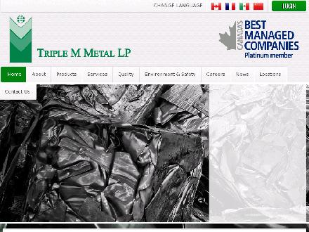 Triple M Metal LP (416-759-4167) - Website thumbnail - http://www.triplemmetal.com