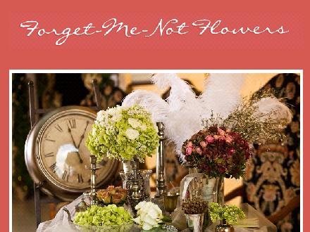 Forget Me Not Flowers (403-762-4111) - Website thumbnail - http://www.banffflowers.com