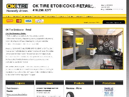 OK Tire (416-236-1277) - Website thumbnail - http://www.oktireetobicoke.com