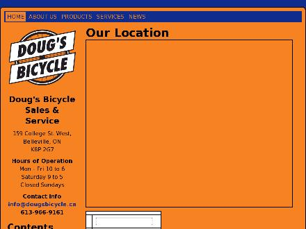 Doug's Bicycle Sales & Service (613-966-9161) - Website thumbnail - http://www.dougsbicycle.ca