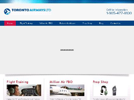 Toronto Airways (905-477-8100) - Website thumbnail - http://www.torontoairways.com
