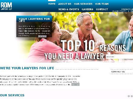 RDM Lawyers LLP (604-557-7593) - Website thumbnail - http://www.rdmlawyers.com