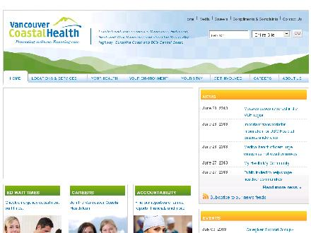 VANCOUVER COASTAL HEALTH (604-736-9244) - Website thumbnail - http://www.vch.ca