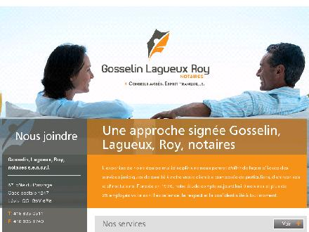 Gosselin Lagueux Roy Notaires (418-833-0311) - Onglet de site Web - http://www.glrnotaires.com