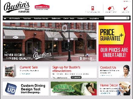 Bustin's Home Furnishings (1-866-287-8467) - Website thumbnail - http://www.bustins.com