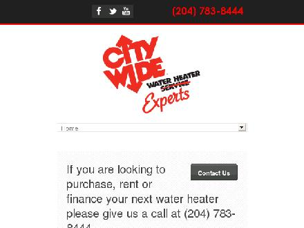 City Wide Water Heater Service (204-783-8444) - Website thumbnail - http://www.hotwater.ca